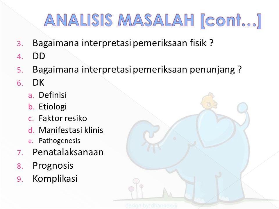 ANALISIS MASALAH [cont…]